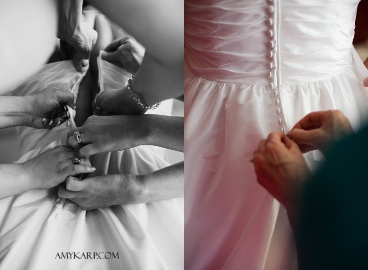 julie and mark wedding in richardson texas at reneissance hotel with pink bridal flats by dallas wedding photographer amy karp photography