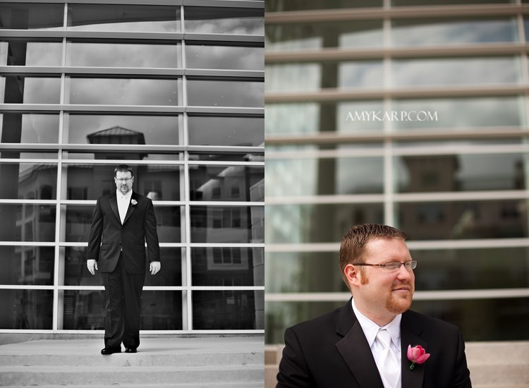 julie and mark wedding in richardson texas at reneissance hotel by dallas wedding photographer amy karp photography