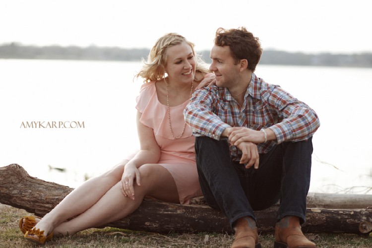 White Rock Dallas Engagement Portraits with Lindsey and Shea