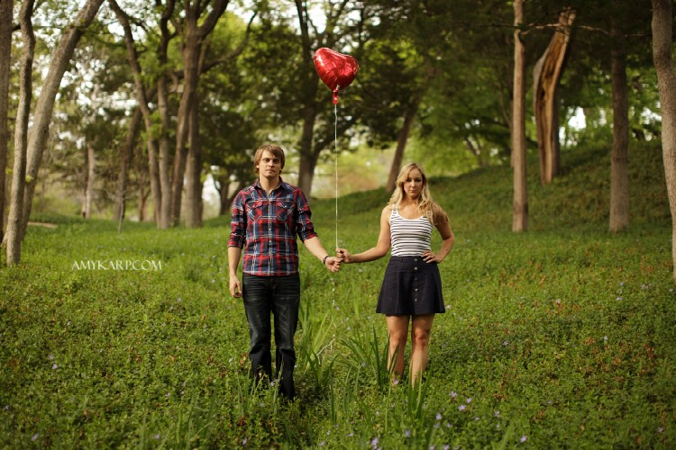 Film Inspired Engagement Session in Dallas with Kelley and Matt