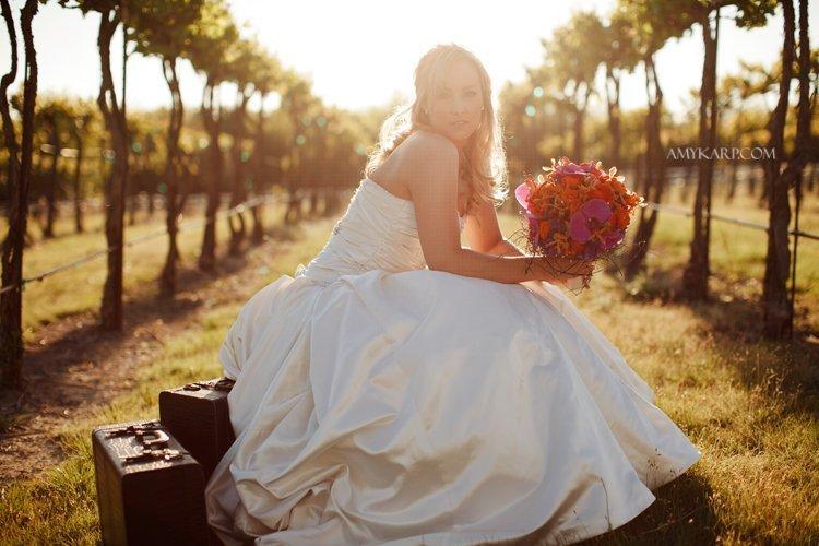 kelley's bridals at a vineyard near Dallas