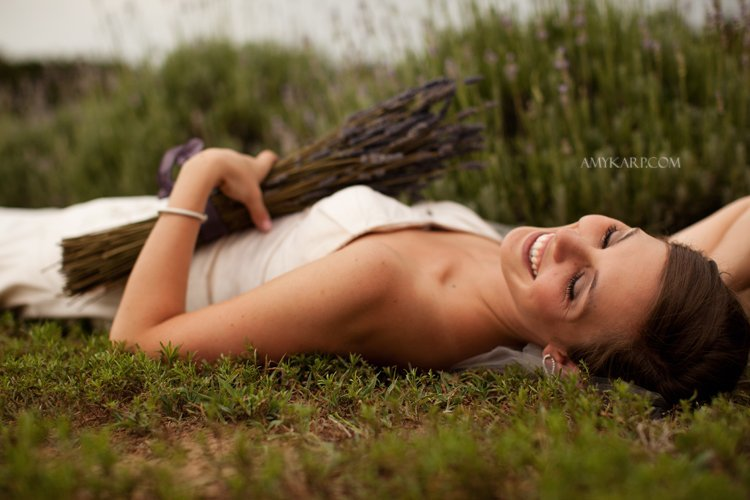 Kathryn and Ben's Day After Session in a Lavender Field sneak peek!