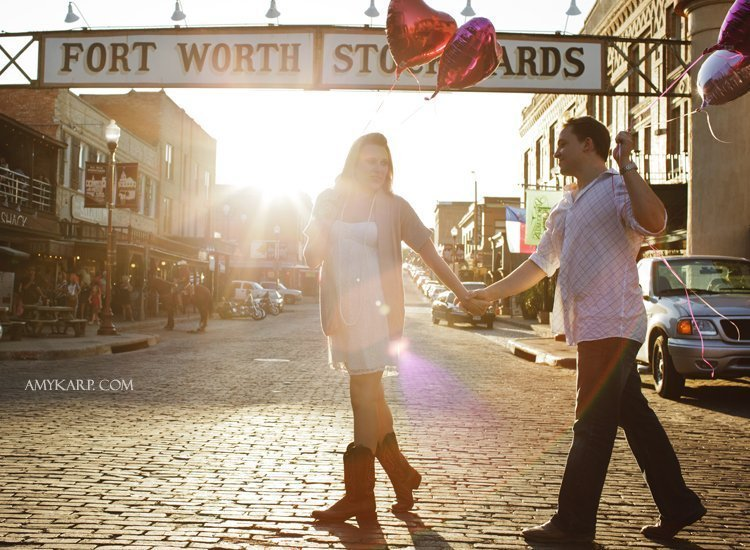 Nicole and Clifton's Fort Worth Engagement Session