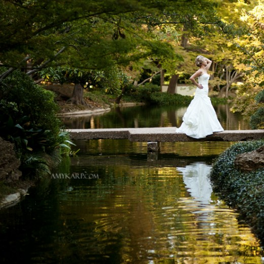 Emily's Bridals at the Fort Worth Botanic Garden