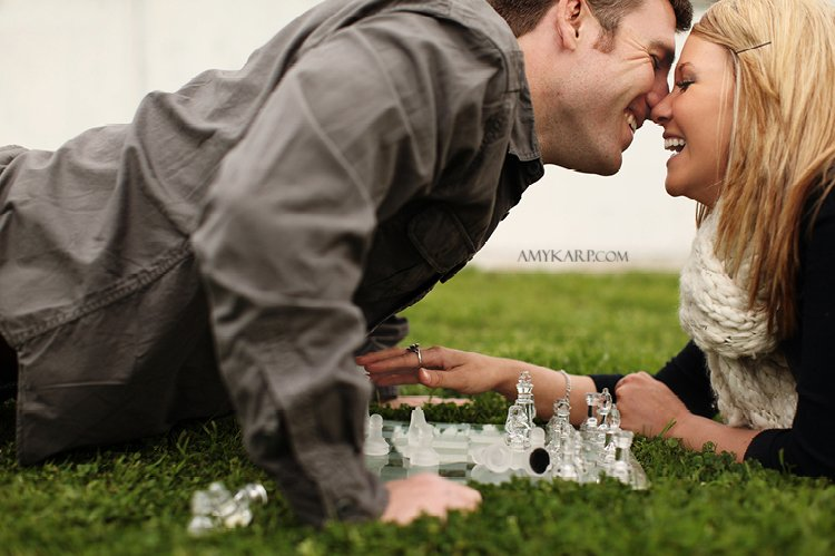 olivia and bobby's farm engagement session with a horse and chess set in ennis texas by dallas wedding photographer amy karp (13)