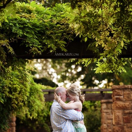 Elizabeth and Kevin's Engagement Session at the Fort Worth Botanic Gardens
