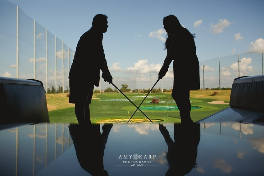 Jannie and John's Top Golf Engagement Session