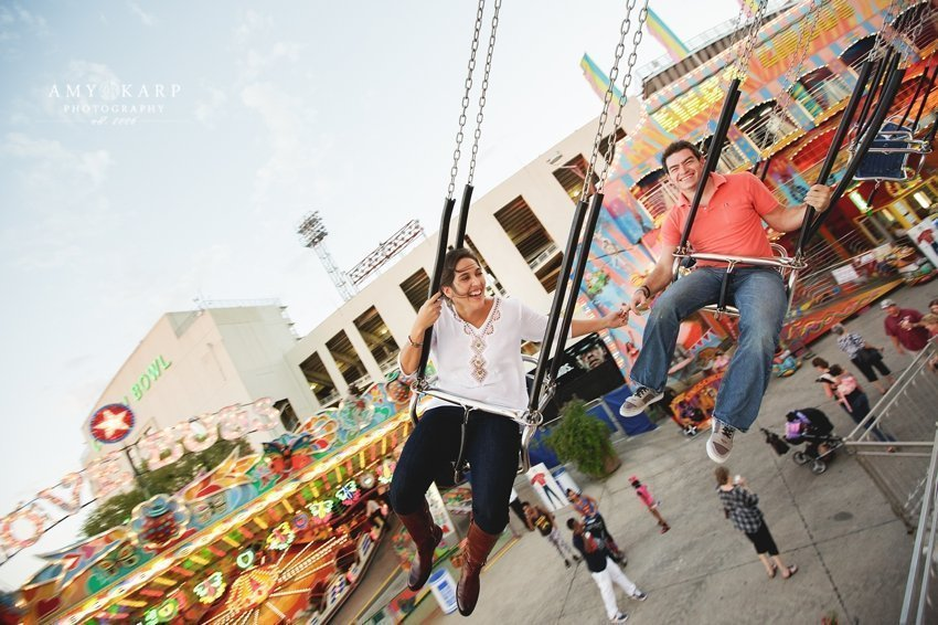 Dallas wedding photographer with celina and coit crossfit and Texas state fair engagement session