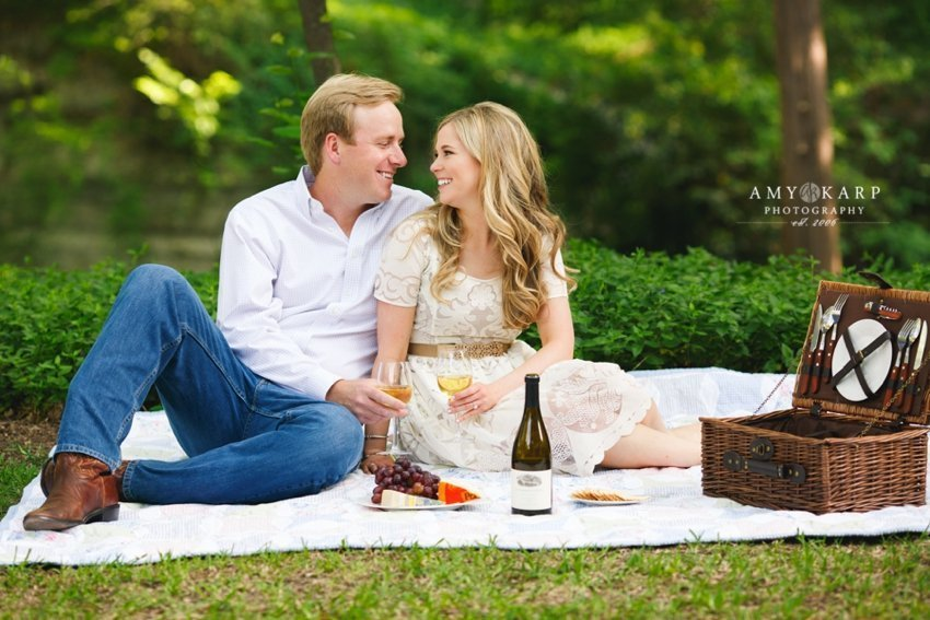 Dallas Wine Engagement Session with Kendall & Keith