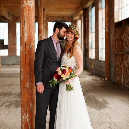 McKinney Cotton Mill Wedding of Ashley and Aaron
