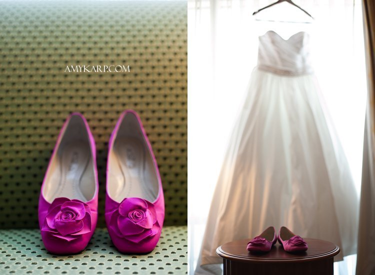 julie and mark wedding in richardson texas at reneissance hotel with peony bridal bouquet by dallas wedding photographer amy karp photography