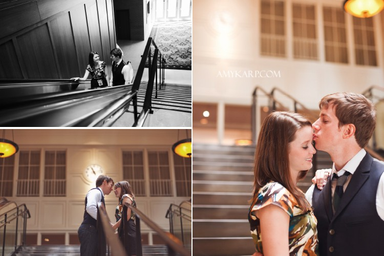 Ryan & Mallory's Fun-filled Engagement Session in Dallas with Balloons at the DMA