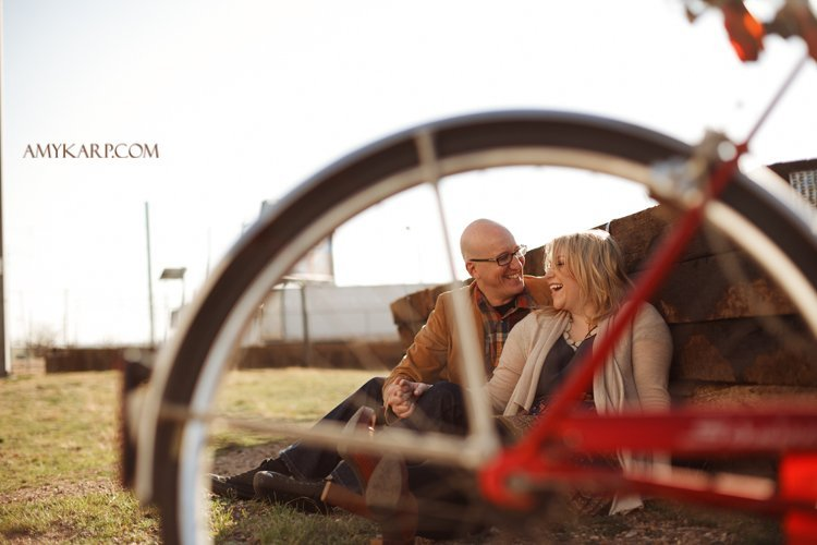 Bars, Bikes and Great Light at Today's Engagement Session