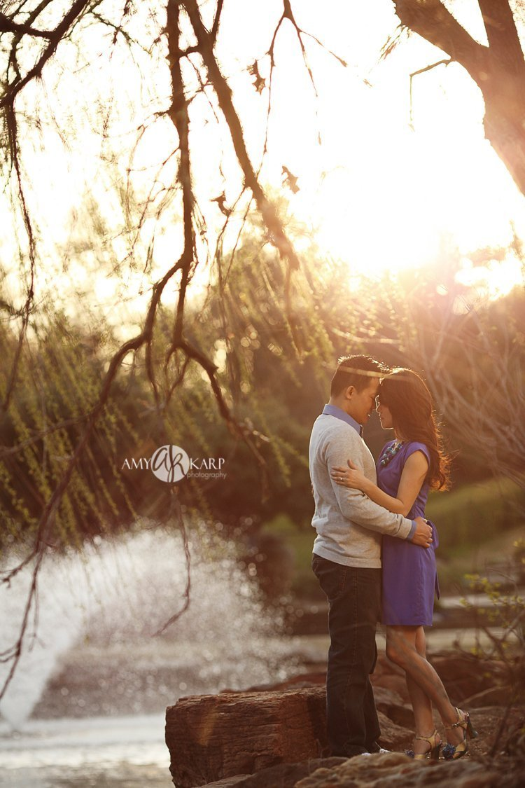 Ellie and Khong's Engagement Session at Fort Worth Botanic Gardens