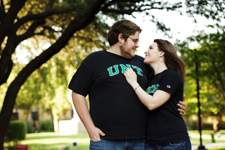 dallas wedding photographer with kati and josh at UNT (14)