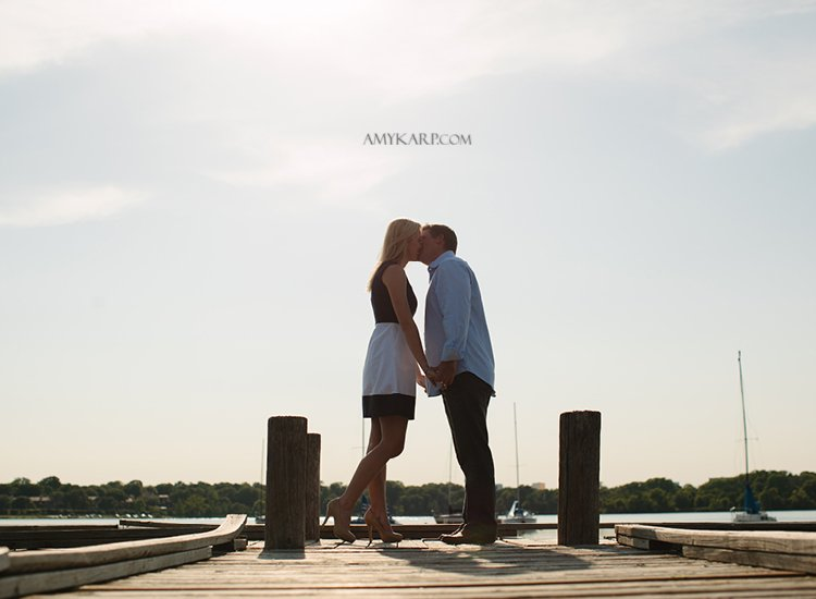 Annie and Matt's White Rock Lake Engagement Session
