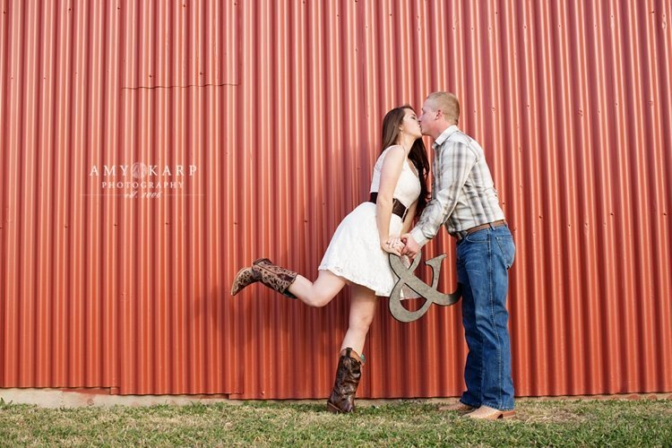Katie and Josh's Prosper, Texas Engagement Session