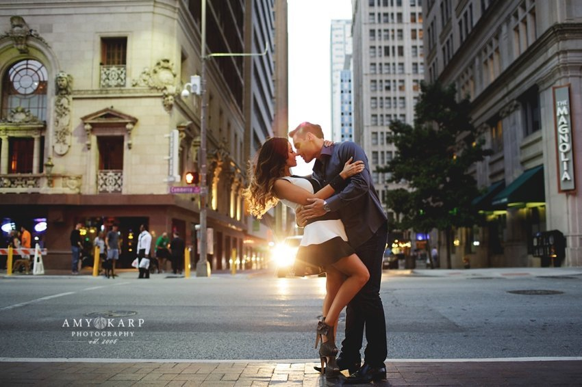 Jennifer and Cory's Downtown Dallas Engagement Session