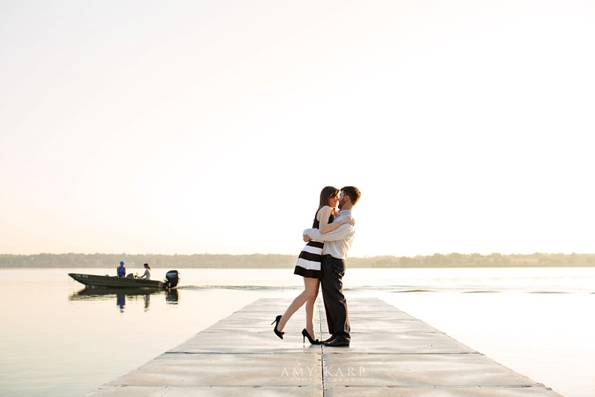 Summer and Kyle's Dallas Engagement Session at White Rock Lake